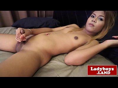 Smalltited ladyboy masturbating