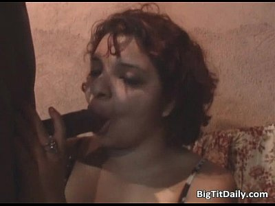 Brunette ugly whore with big tits gets