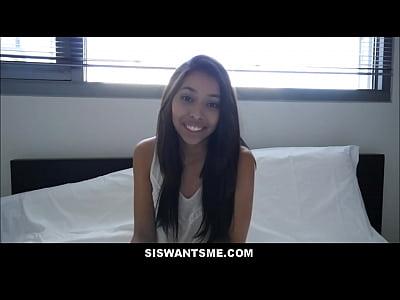 Latina Teen Step Sister Jasmine Summers Fucked For Practice