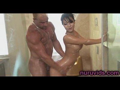 Asa Akira hot shower massage
