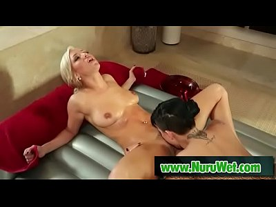 Cameron Dee & Eva Angelina licking their wet and oiled pussies