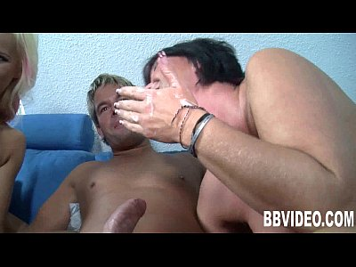 Two milfs suck and fuck a hard dick