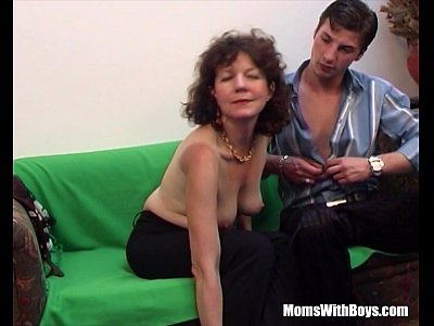 Brunette Hairy Pussy Mature Couch Fucked Young Cock