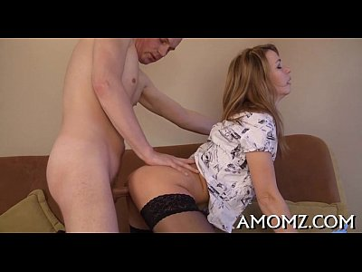 Naughty mom rides to receive orgasm