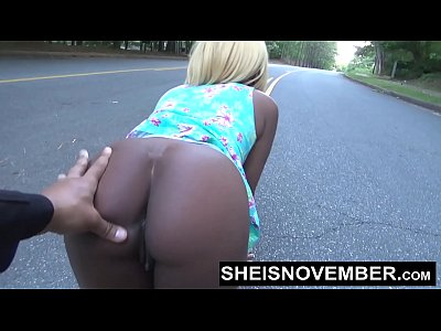 Risky Middle Of Street Blowjob & Big Ass Ebony Booty Out For Stranger Msnovember