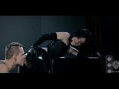 xCHIMERA - Glamorous Czech babe Anie Darling dresses in latex and dominates guy