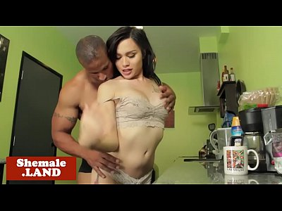 Trans amateur assfucked by bfs black cock