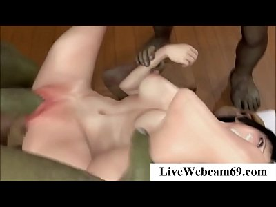 3D Hentai Yoga Babe fucked by 2 Alien slaves - 3DanimeTUBE.com