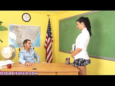 School Girl Jelena Jensen Gets Facial for Extra Credit!