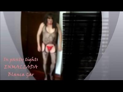 In panty tights - Enmallada Blanca Gar
