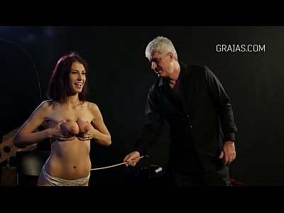 Very nice girl on a BDSM casting with Dr Lomp