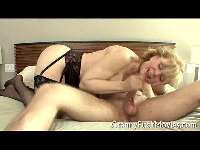 Granny in black stockings dicked