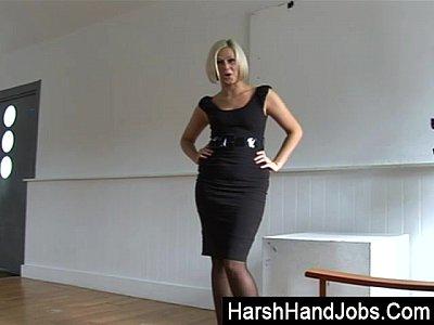 Anna Joy giving a harsh handjob