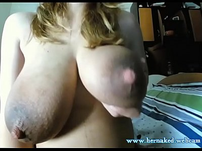 Pregnant Milf Squeezes Her Big Milky Tits
