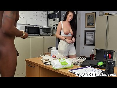 Busty casting babe sucking bbc in pov action