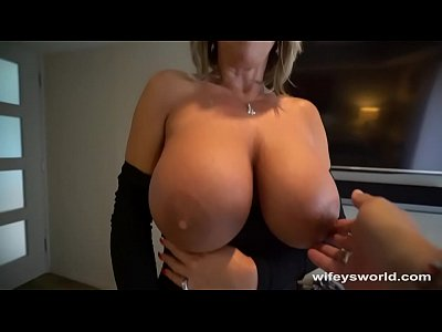 Her Tits Bounce and She Swallows Every Drop