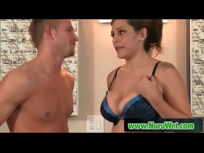 Busty slut gives pleasure in Nuru Massage - BillBailey & Raylene