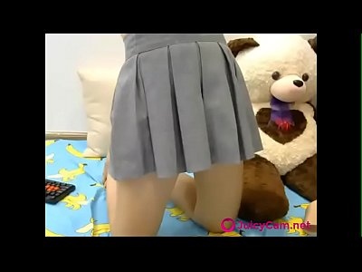 Sexy Japanese Schoolgirl Gets Naked on Cam - more at JuicyCam.net