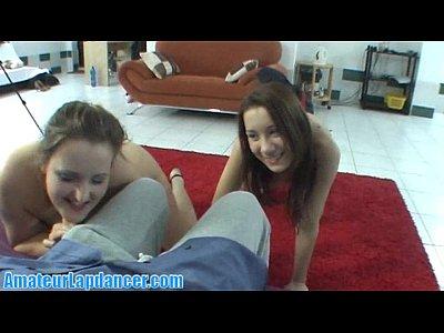 Wild czech teens doing gorgeous lapdance