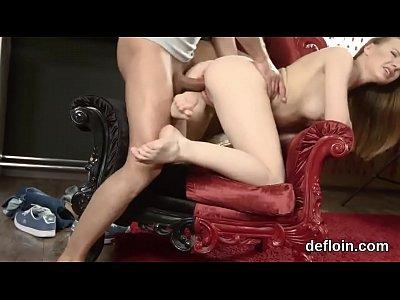 Losing virginity of innocent cutie tight pussy and pleasuring