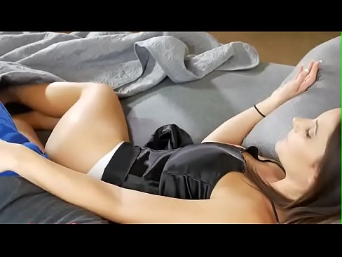 Sweet mom share a bed with son