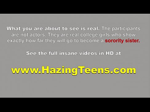 Fresh College Sorority Babes Eat Pussy In Hazing Session