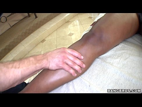 Black Girl Turned on by Massage