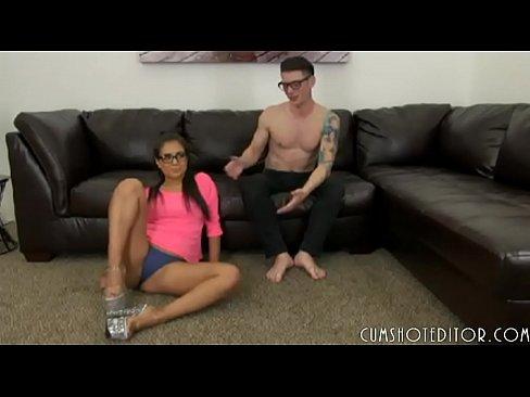 Hot Amateur Teen Slut Gagging On Boyfriend's Cock