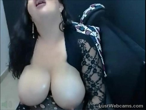 Busty BBW teasing on webcam