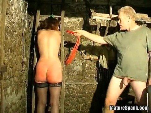 Crazy milf enjoys in hard spanking