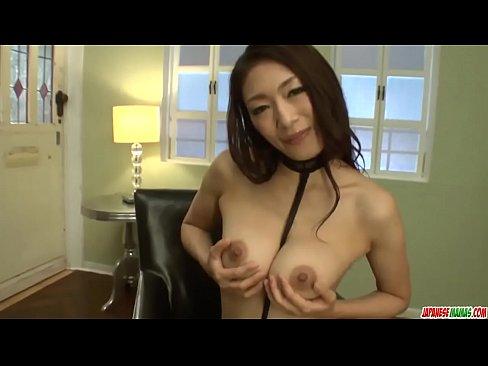 Superb milf Reiko Kobayakawa hard toy sex on cam - More at Japanesemamas.com