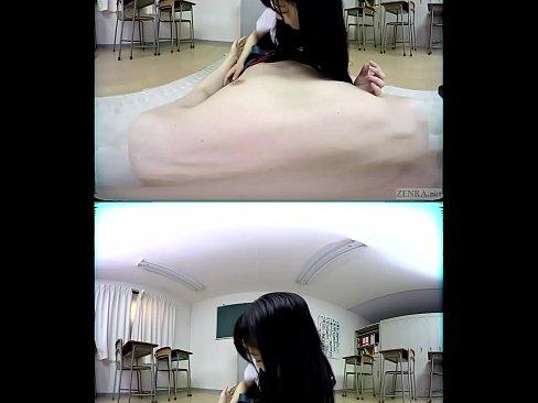 ZENRA VR Japanese schoolgirl Noa Eikawa classroom teasing