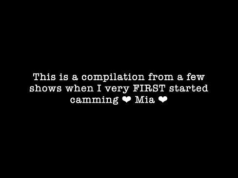 Cute cam girl teen live webcam show recording compilation Mia Nyx