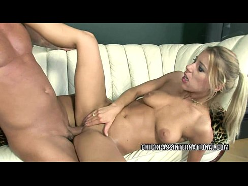 European cutie Nikky Thorne gets banged by an older guy
