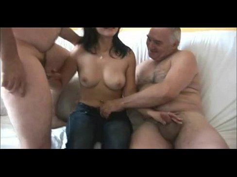 5 Old men fucking cute girl
