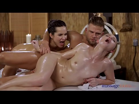 Massage Rooms Lady Bug and Monica Brown oil soaked angels birthday threeway