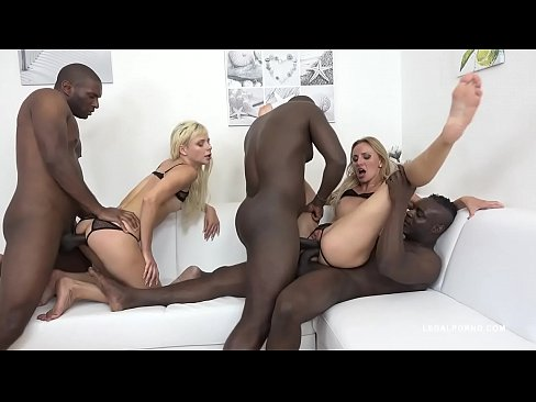 Cock Crazy Blondes Gabriella Ross & Afina Kisser Balls Deep Interracial
