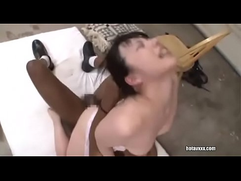 Black guy fucks Japanese girl with pigtails