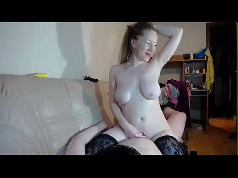 Girl with the big boobs in stockings getting fucked / Watch them live at www.Cams-69.com