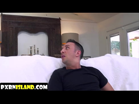 Two guys vs one girl in living room - pxrnisland.com