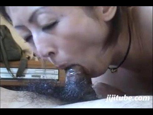 Short version - Japanese milf swallows cum