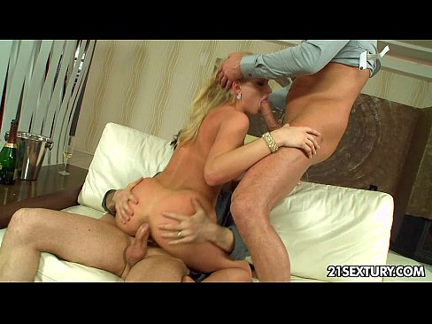 Grandma Sue lures a way younger guy between her legs