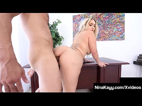 Big Booty Boss Nina Kayy Silenced By Big Cock Latino Intern!