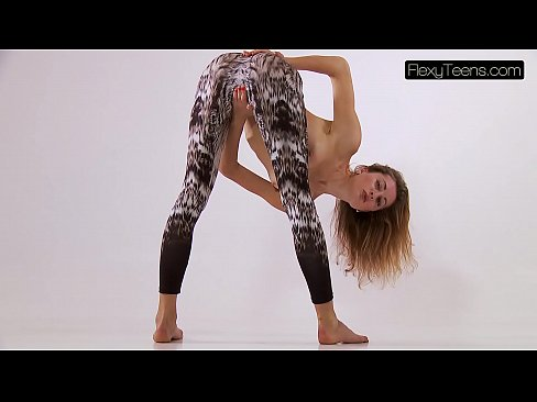 Professional nude gymnast