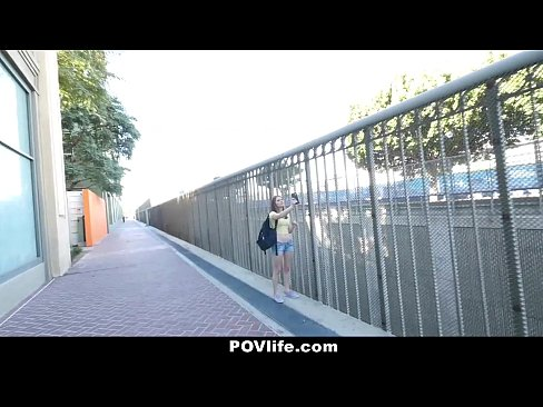 POVLife - Skinny Chick Offers Pussy For Free WIFI
