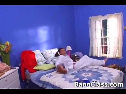 Sexy schoolgirl loves hard big dick