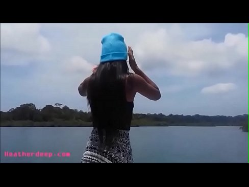 tight tiny pussy thai teen heather deep gets (中出)creampie after deepthroat on boat