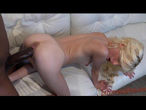 tiny tiny blonde takes biggest black cock!