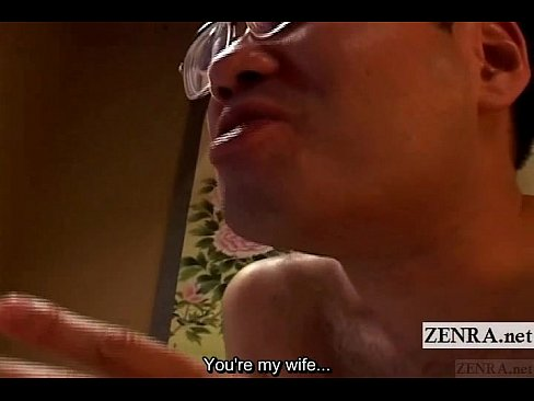 Subtitle uncensored Japanese busty wife cunnilingus