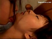 2 Asian Girls In Pijamas Kissing Fingering Each Other Pussies On The Bed